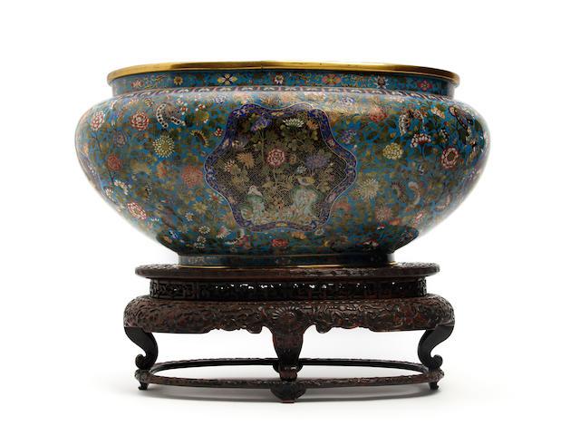 A large Chinese Cloisonné enamel jardinière 19th Century