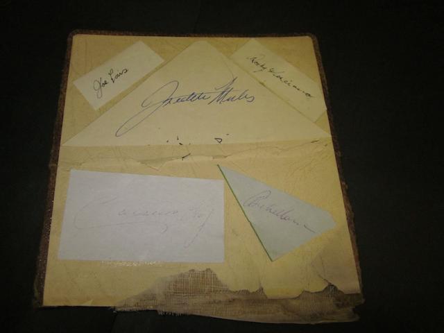 Joe Louis/Marciano/Freddie Mills/Cassius Clay autographs