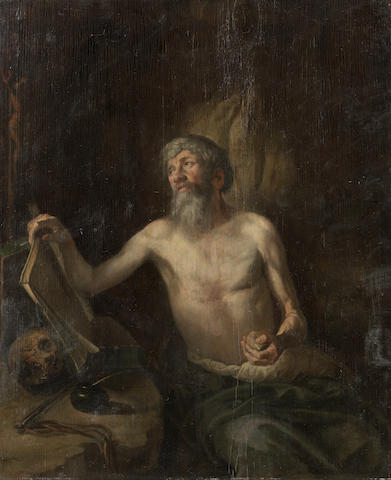 German School, 17th Century The Penitent Saint Jerome