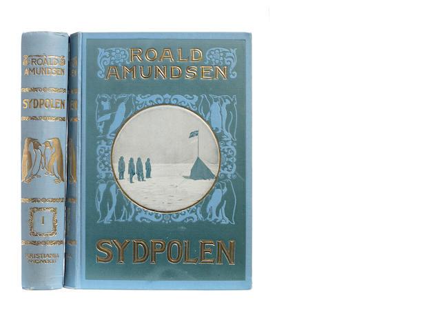 AMUNDSEN (ROALD) Sydpolen. Den Norske Sydpolsfærd med Fram 1910-1912, 2 vol., FIRST EDITION, Kristiania, Jacob Dybwads Forlag, 1912