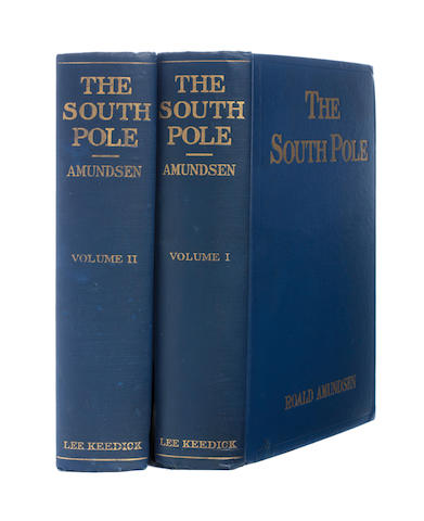 "AMUNDSEN (ROALD)  The South Pole. An Account of the Norwegian Antarctic Expedition in the ""Fram"" 1910-1912, New York, Lee Keedick, 1913"