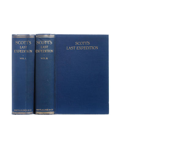 SCOTT (ROBERT FALCON) Scott's Last Expedition, 2 vol., FIRST EDITION, Smith Elder, 1913