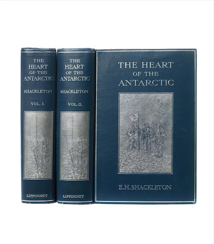 SHACKLETON (ERNEST HENRY) The Heart of the Antarctic, being the Story of the British Antarctic Expedition 1907-1909, Philadelphia, J.P. Lippincott, 1909