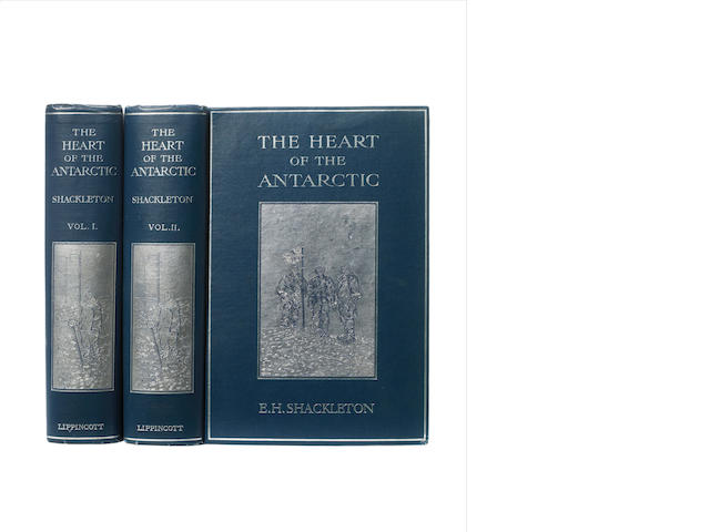 SHACKLETON (ERNEST H.) The Heart of the Antarctic, being the Story of the British Antarctic Expedition 1907-1909, Philadelphia, J.P. Lippincott, 1909