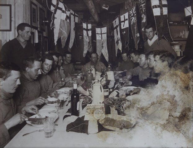 "PONTING (HERBERT) ""Captain Scott's Birthday Dinner"", [1911]"