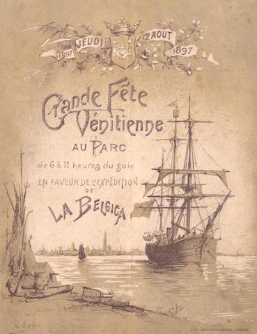 """FUND RAISING PROGRAMME [Belgica]-  """"Grande Fête Vénitienne au Parc de 6 à 11 heurs du soir en faveur de l'expedition de la Belgica. 1897 Jeudi 12 Aout 1897"""", [1897]"""