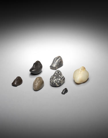 Seven Ancient Near Eastern hardstone duck weights 7