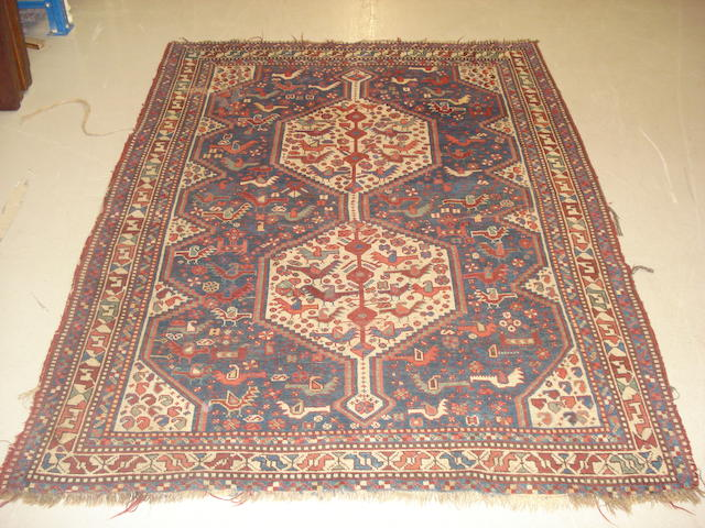 A Kashgai rug, South West Persia, 183cm x 140cm