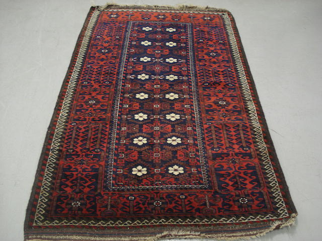 A Belouch rug, Persian/ Afghan border, 190cm x 104cm