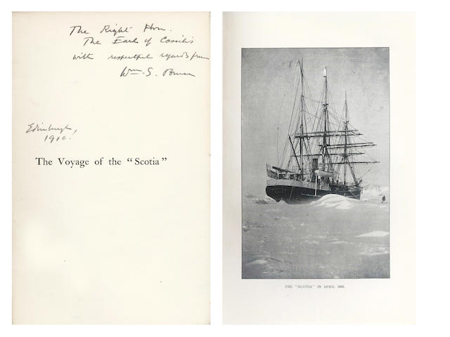 "BROWN (ROBERT NEAL RUDMOSE), and others. The Voyage of the ""Scotia."", PRESENTATION INSCRIPTION OF W.S. BRUCE, 1906"