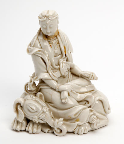A Chinese blanc de chine figure of Guanyin 19th Century