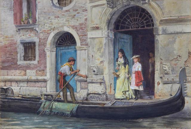 George Goodwin Kilburne, RI, RBA (British, 1839-1924) A Venetian outing