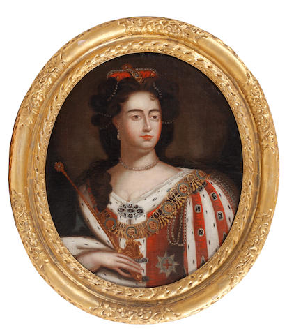 After Sir Godfrey Kneller Portrait of Queen Anne