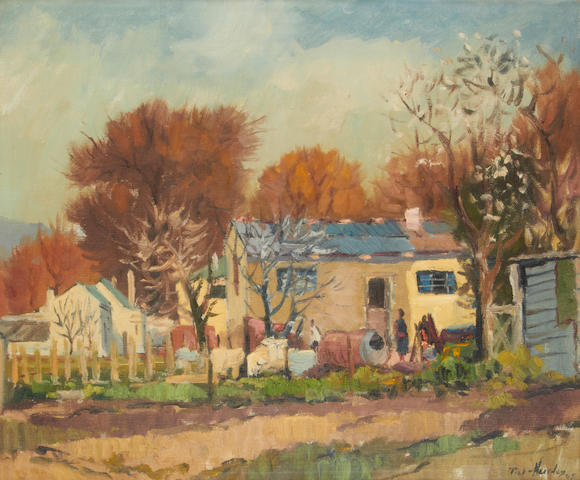 Piet (Pieter Gerhardus) van Heerden (South African, 1917-1991) Cottages