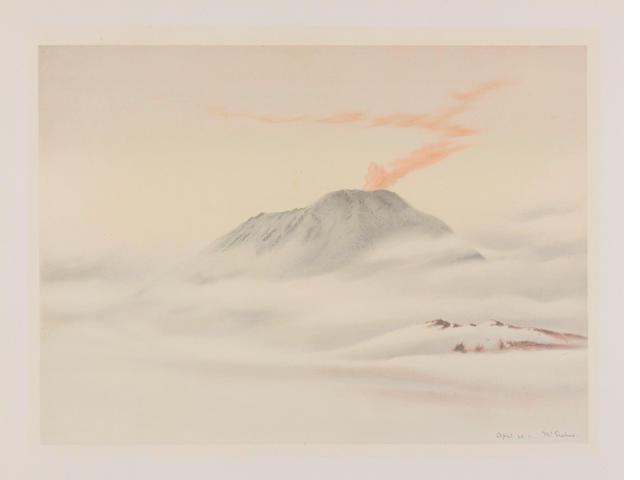 WILSON (EDWARD ADRIAN) A print of Mount Erebus