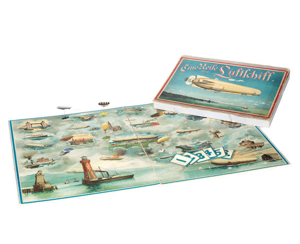 "A ""Race in an Airship"" board game (Eine Reise im Luftschiff), Spear's Prachtausgabe, German edition, circa 1912,"