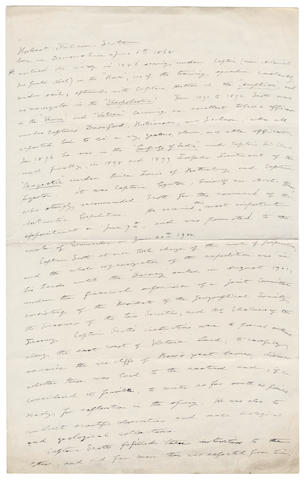 "MARKHAM (CLEMENTS) Autograph manuscript titled ""Robert Falcon Scott"", 2pp., in ink, folio, [undated]"
