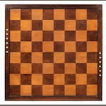 A rosewood, mahogany and ivory inlaid tournament chess board, English, circa 1850,
