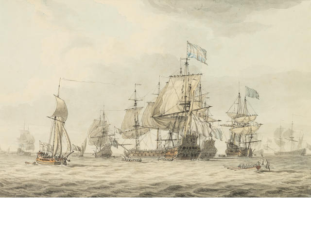 Dominic Serres (1722-1793) A Fleet review ????????????