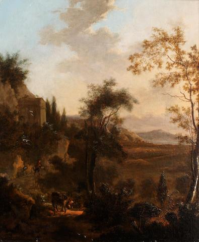 Circle of Jan Dirksz Both (Dutch, 1618-1652) Italianate landscape