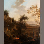 Circle of Jan Dirksz Both (Dutch, 1618-1652) Italianate landscape