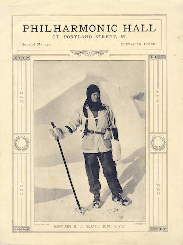PONTING (H.G.) With Captain Scott in the Antarctic, lecture programme,[c.1914]