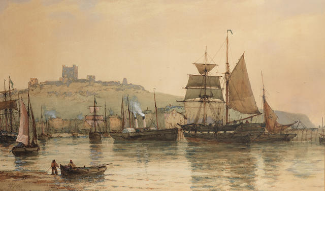 Richard Henry Nibbs (British, 1816-1893) Dover harbour