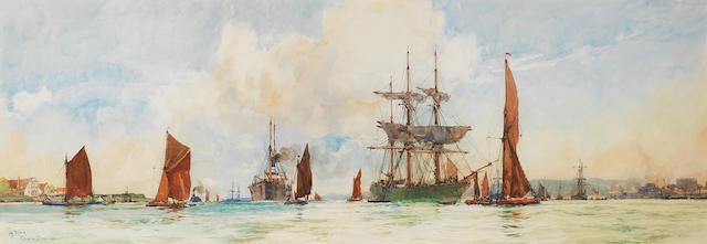 Charles Edward Dixon (British, 1872-1934) 'Off Tilbury'