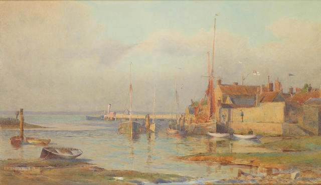 Alma Claude Burlton Cull (British, 1880-1931) 'Evening, Yarmouth, I.W.'