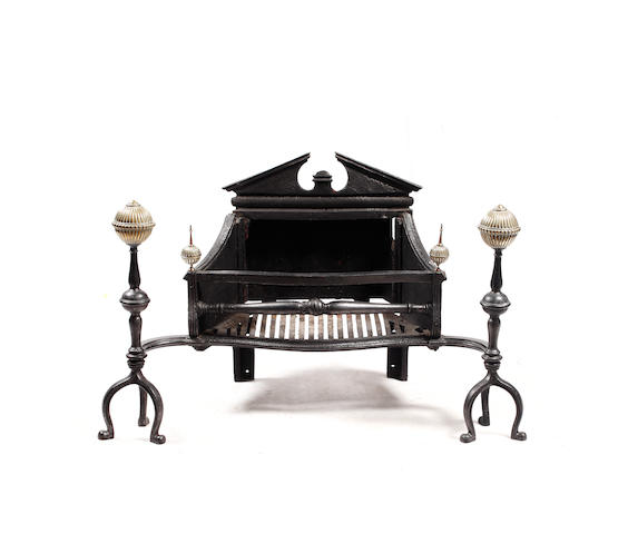 A late George III cast-iron fire grate