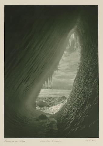 "PONTING (HERBERT G.) ""Cavern in an Iceberg"", fine carbon print, [c.1912]"
