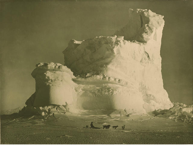 "PONTING (HERBERT G.) ""The Castle Berg"", large carbon print, [c.1912]"