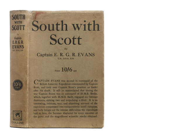 EVANS (EDWARD R. G. R.) South with Scott, FIRST EDITION, W. Collins, 1921