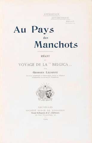 LECOINTE (GEORGES) Expédition Antartique Belge, FIRST EDITION, Brussels, Oscar Schepens, 1904