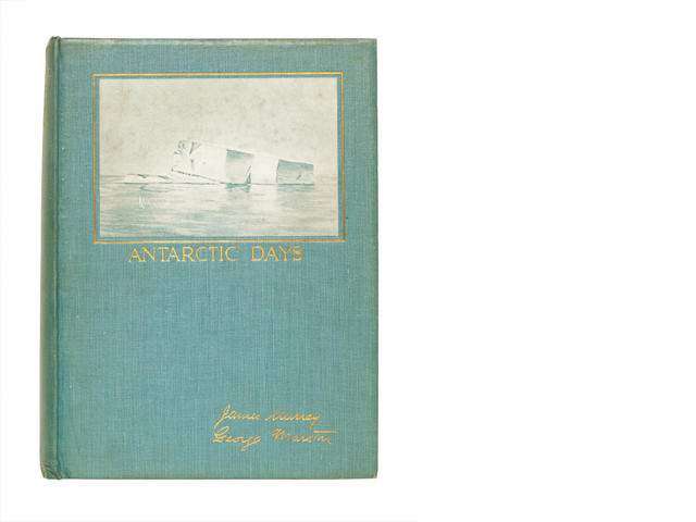 MURRAY (JAMES) AND GEORGE MARSTON Antarctic Days. Sketches of the Homely side of Polar Life by two of Shackleton's Men, Andrew Melrose, 1913