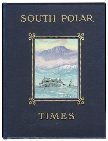 SOUTH POLAR TIMES SHACKLETON (ERNEST HENRY), LOUIS CHARLES BERNACCHI and ASPLE CHERRY-GARRARD editors, 3 vol., Smith Elder, 1907