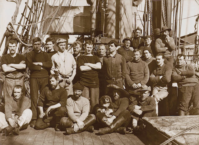 "PONTING (HERBERT GEORGE) ""The Crew of Terra Nova"", INSCRIBED BY PONTING ON THE IMAGE ""To Mac"""