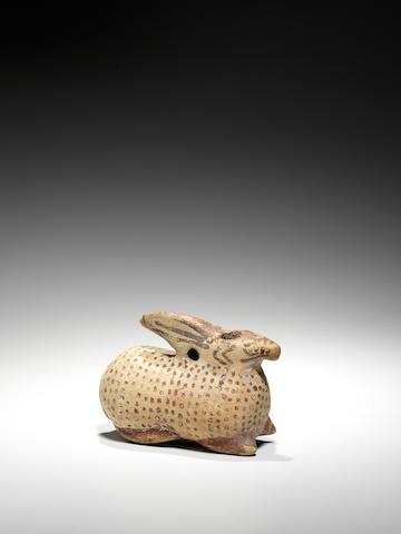 A Rhodian plastic pottery vase
