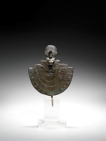 An Egyptian bronze aegis