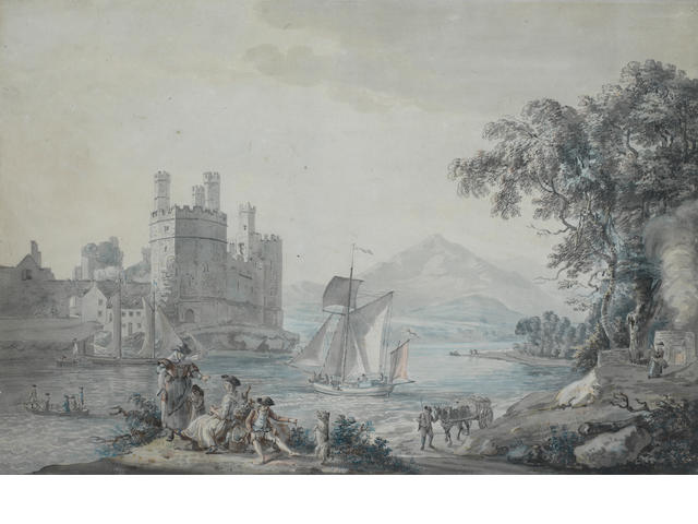 Paul Sandby, RA (British, 1730-1809) Caernarvon Castle