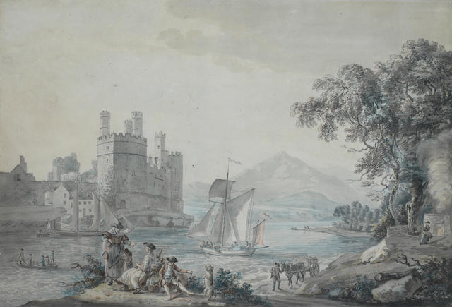 Paul Sandby R.A. (Nottingham 1730-1809 London) Caernarvon Castle