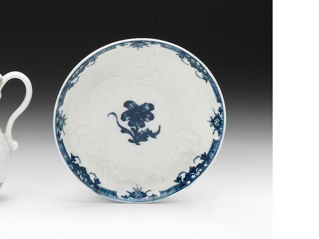 A rare Worcester 'Anemone' pattern saucer