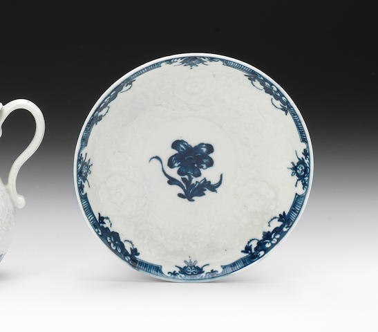 A rare Worcester 'Anemone' pattern saucer