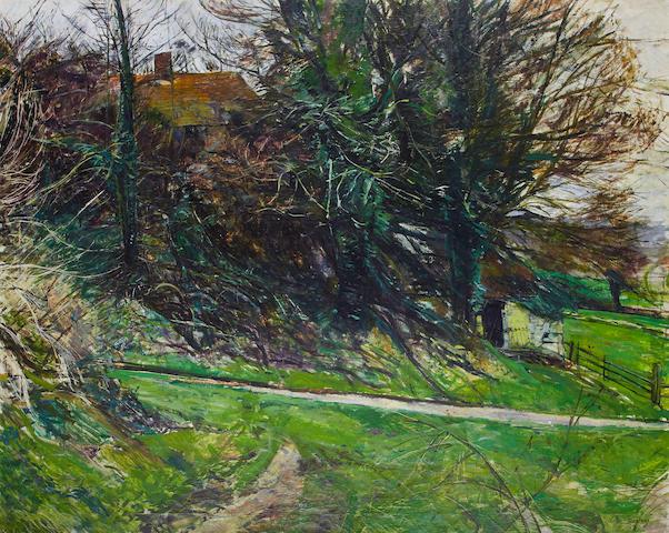 Olwyn Bowey RA (British, born 1936) A country path
