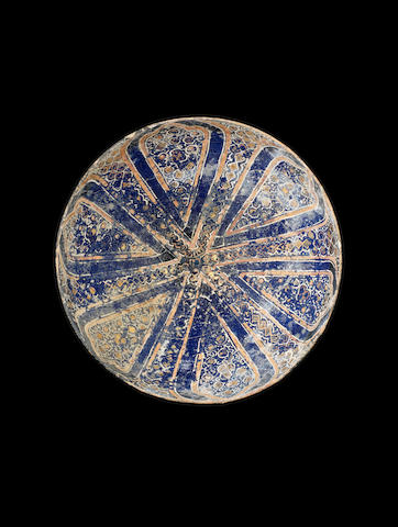 A Lajvardina pottery Bowl Persia, 13th/ 14th Century