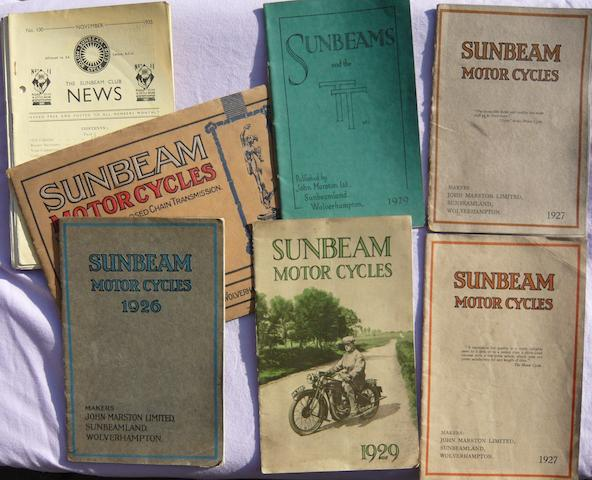 Six 1920s Marston Sunbeam catalogues,