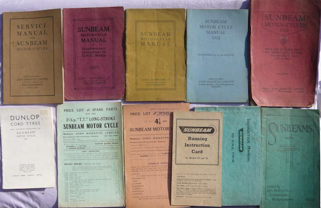 Four original Marston Sunbeam service manuals,