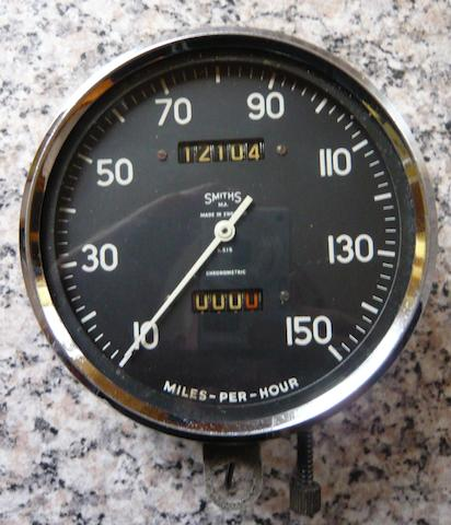 A Smiths 150mph speedometer for Vincent Black Shadow,
