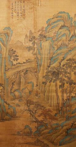 A Chinese hanging scroll, bearing signature of Wen Zhengming