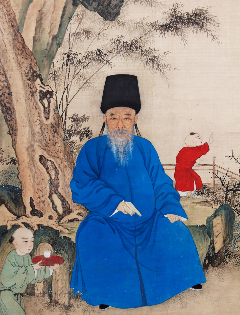 A Chinese painting of a Ming Scholar, painted by Du Fu 17th Century or later